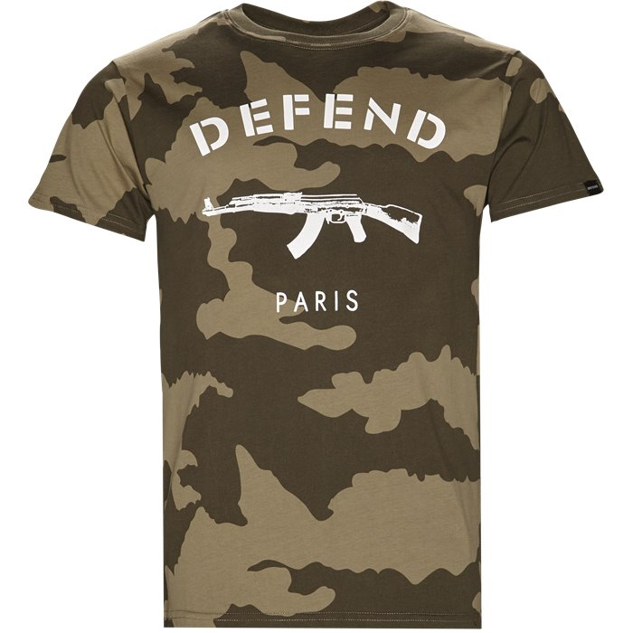 Paris Tee Camo - T-shirts - Regular - Grøn