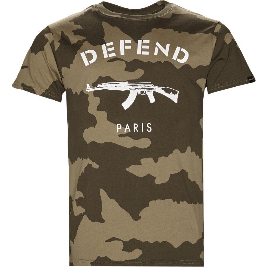 PARIS TEE CAMO - Paris Tee Camo - T-shirts - Regular - GRØN - 1