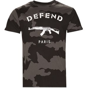Paris Tee Camo Regular | Paris Tee Camo | Sort