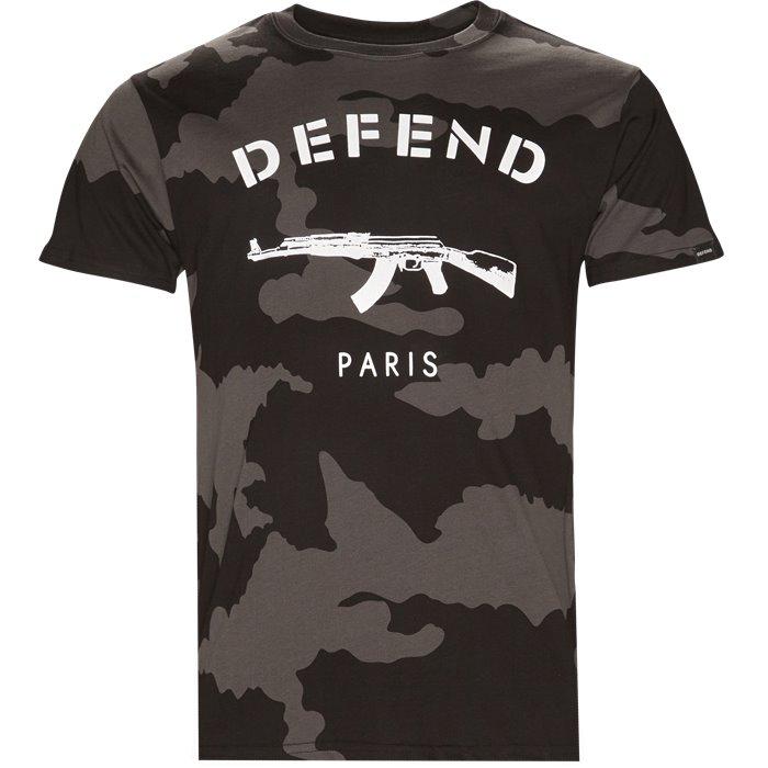 Paris Tee Camo - T-shirts - Regular - Sort