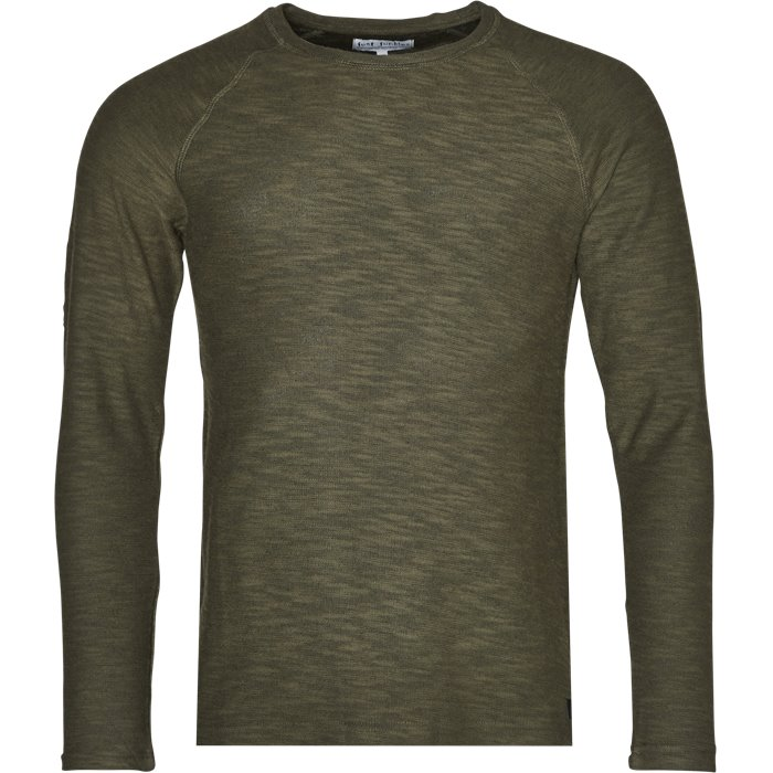 Round neck knitwear - Regular - Army