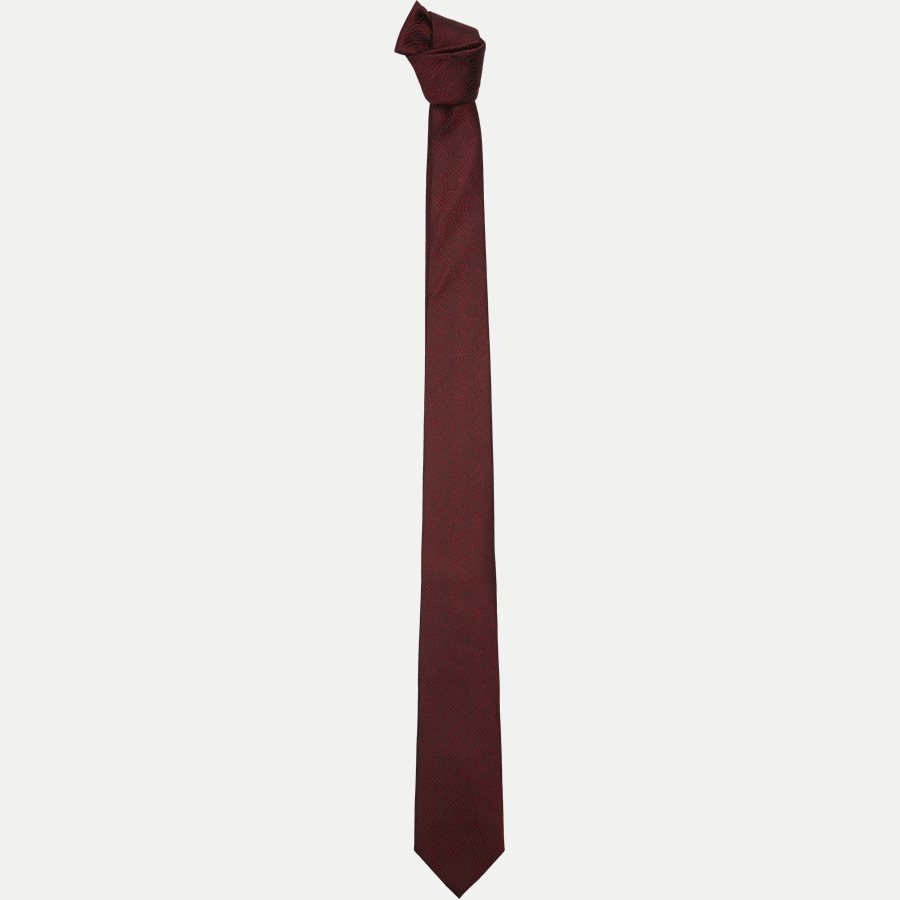 DES#FA007 - Krawatten - BORDEAUX - 1