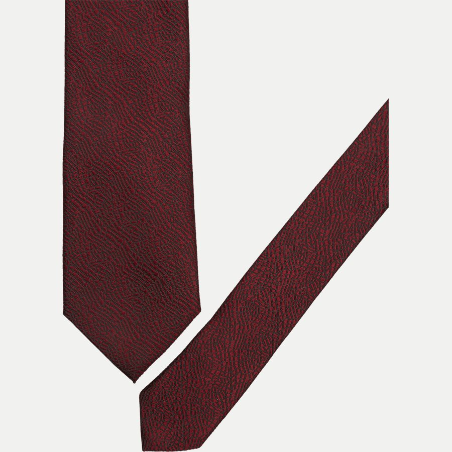 DES#FA007 - Krawatten - BORDEAUX - 2