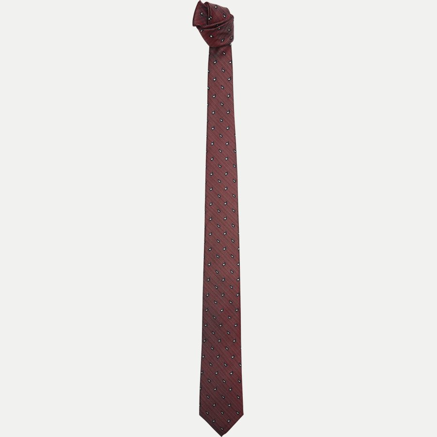 DES#K1109 - Krawatten - BORDEAUX - 1