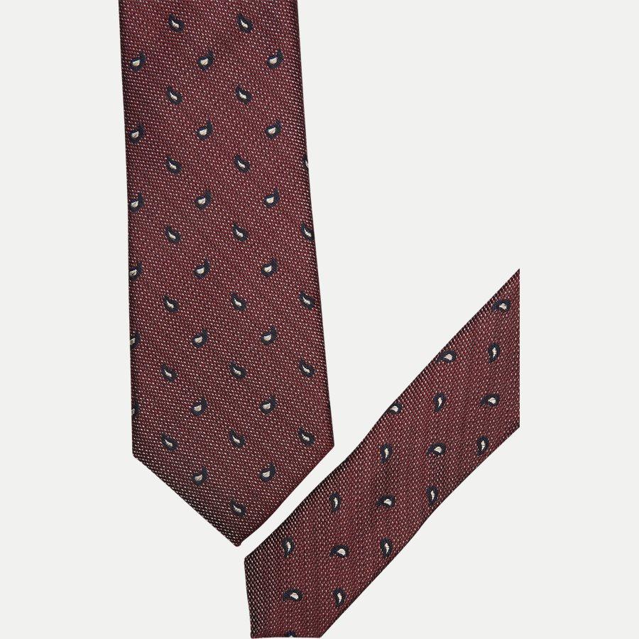 DES#K1109 - Krawatten - BORDEAUX - 2