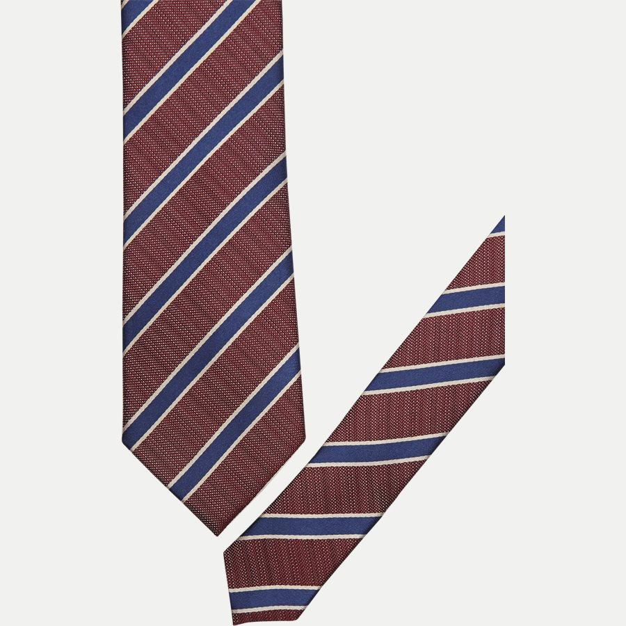 DES#K1108 - Krawatten - BORDEAUX - 2