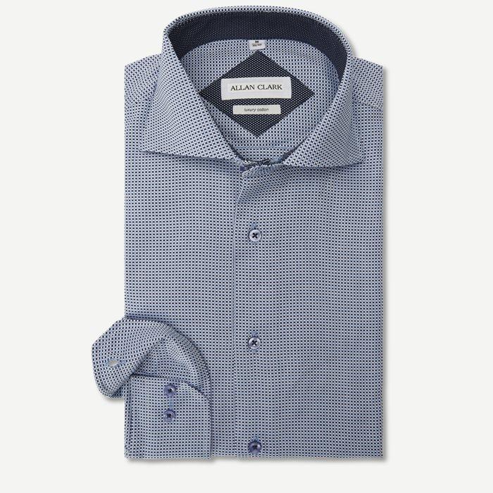 Knox Skjorte - Skjorter - Modern fit - Blå