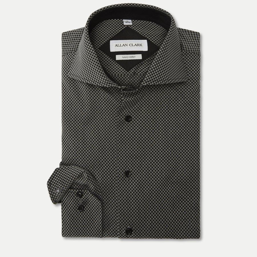 NUTELLA - Nutella Skjorte - Skjorter - Modern fit - GREY/BLACK - 1
