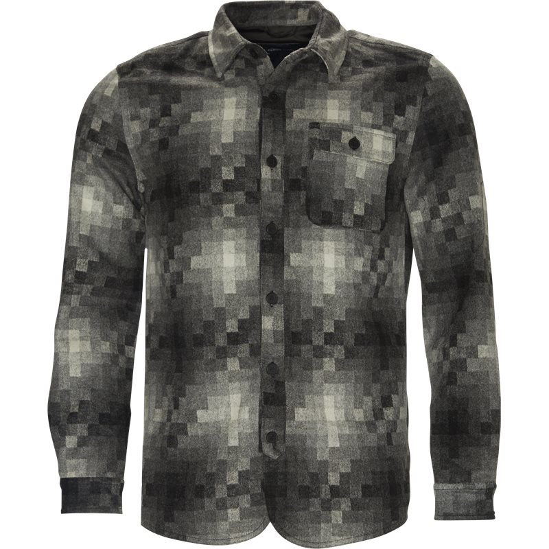 Native North Pixels Wool Shirt Grå