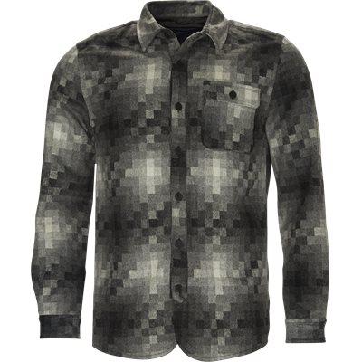Pixels Wool Shirt Regular | Pixels Wool Shirt | Grå