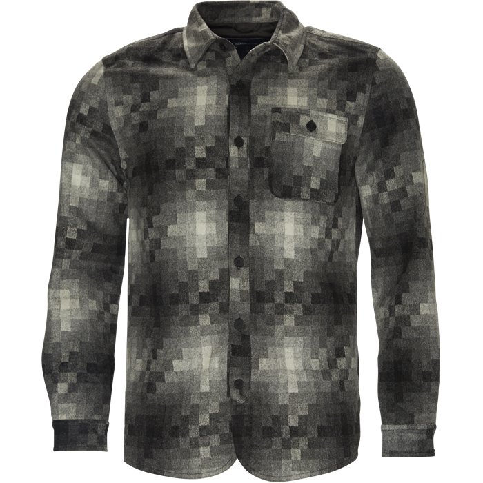 Pixels Wool Shirt - Skjorter - Regular - Grå