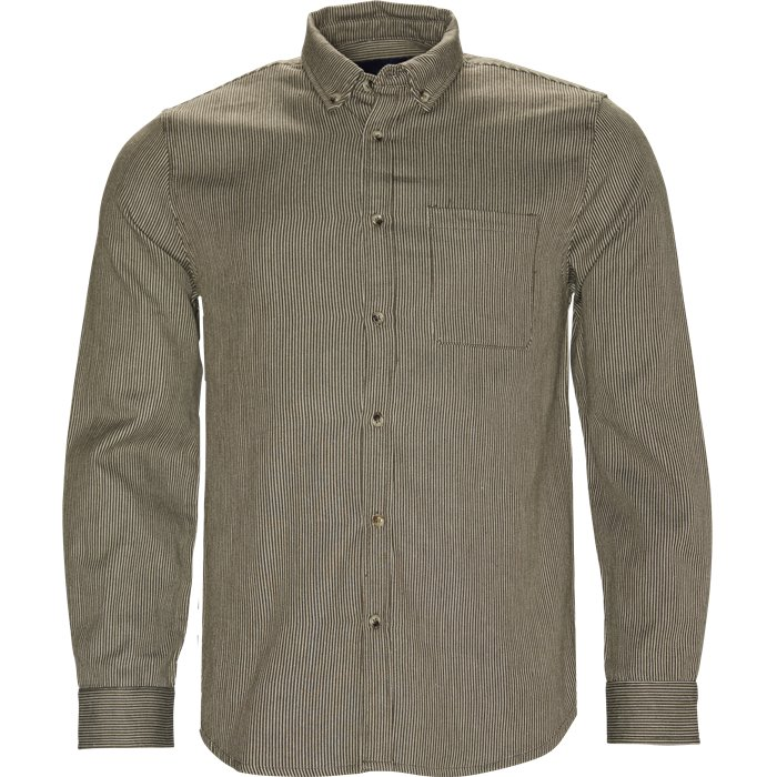 Herringbone Shirt - Skjorter - Regular - Grøn