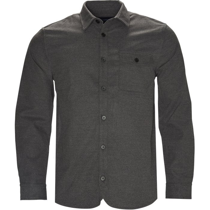 Fleece Shirt - Skjorter - Regular - Grå