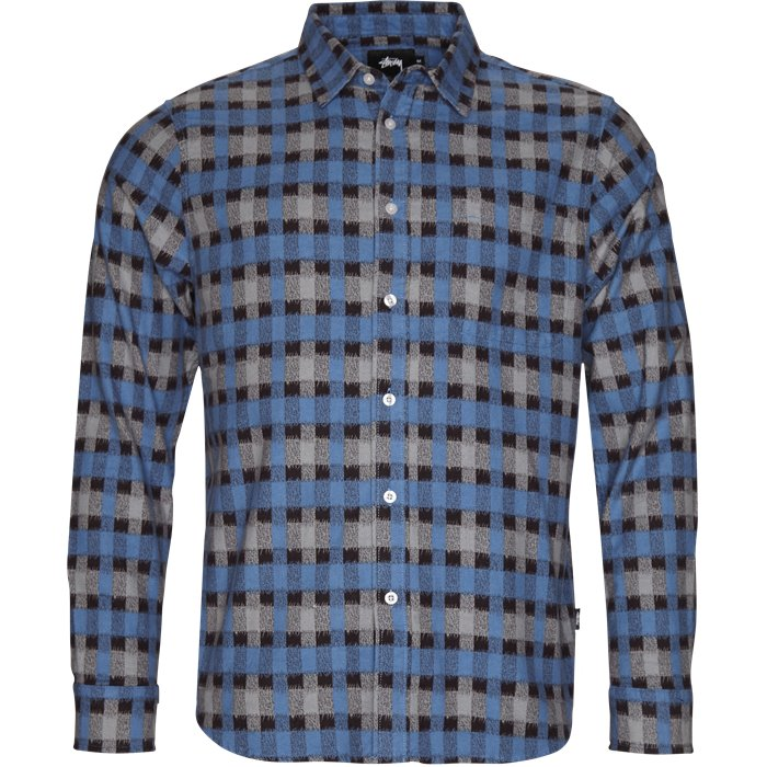 Printed Shirt - Skjorter - Regular - Blå