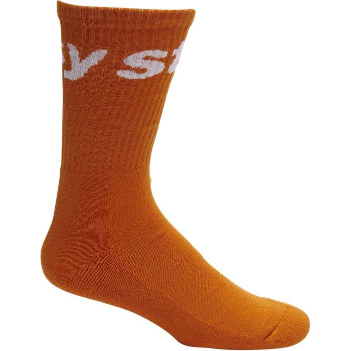 Jacquard Socks - Strømper - Orange