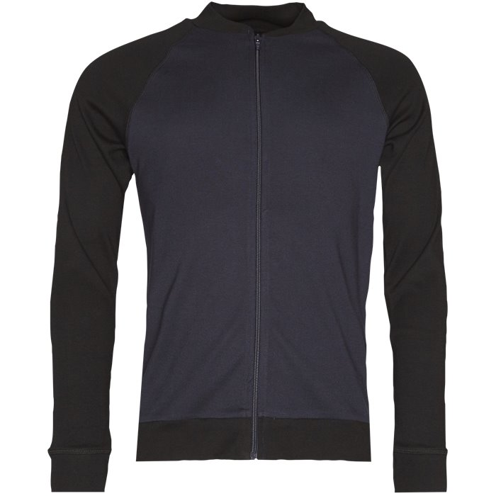 Stelt Jacket Contrast  - Sweatshirts - Regular - Blå