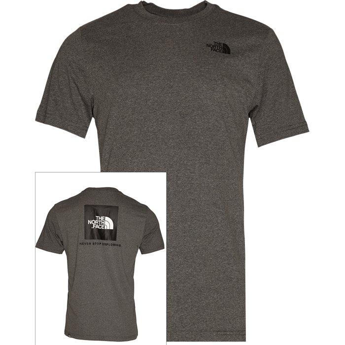 Red Box Tee - T-shirts - Regular - Grå