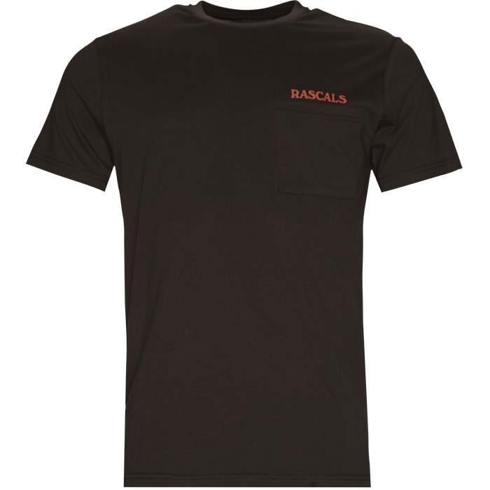 Pocket Tee - T-shirts - Regular - Brun