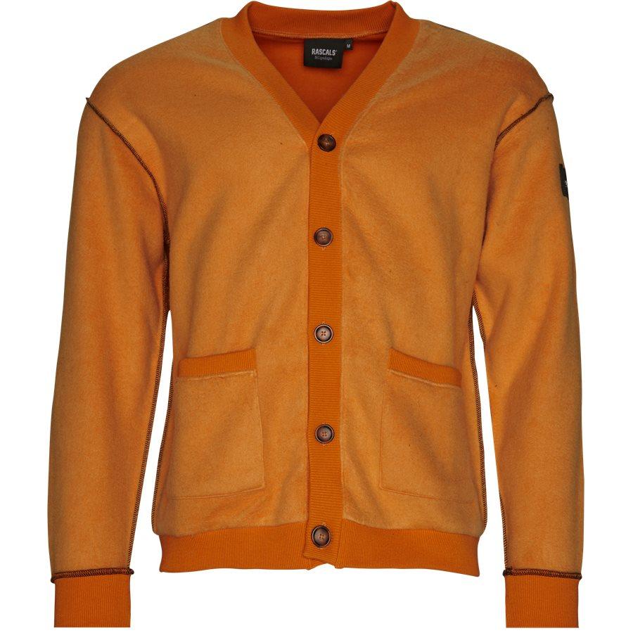 CARDIGAN INVERTED - Cardigan Inverted  - Sweatshirts - Regular - ORANGE - 1