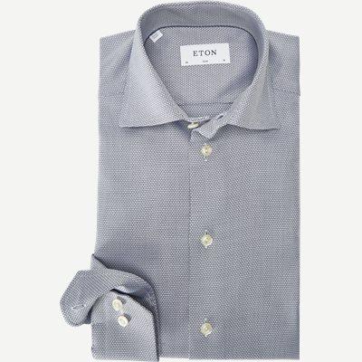 Textured Twill Skjorte Textured Twill Skjorte | Blå