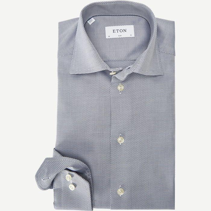 3307 Textured Twill Skjorte - Skjorter - Blå