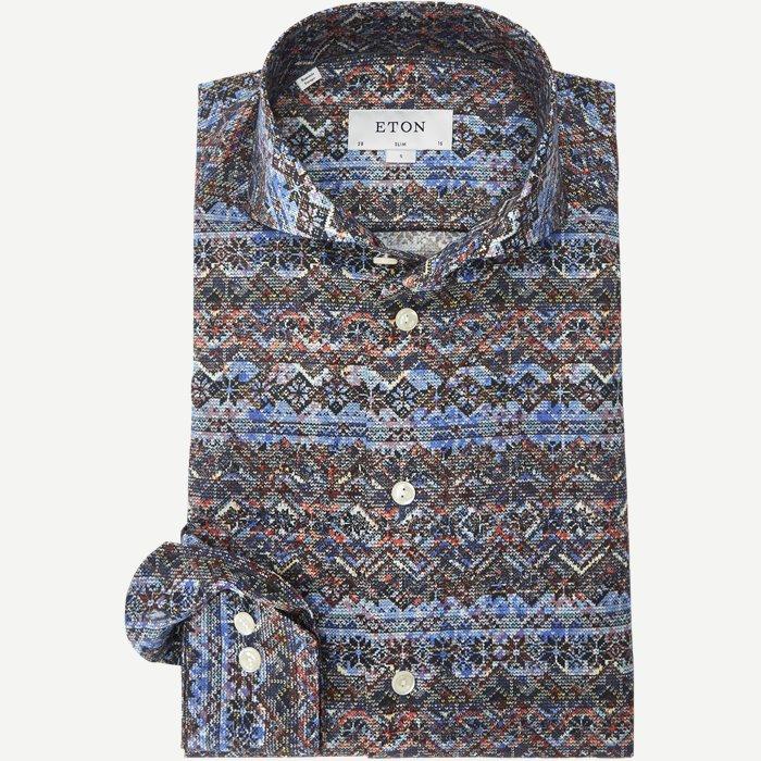 3332 Signature Twill Skjorte - Skjorter - Blå