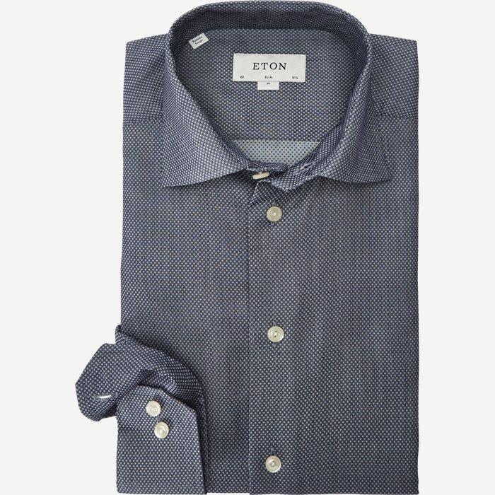 3017 Signature Twill Skjorte - Skjorter - Blå