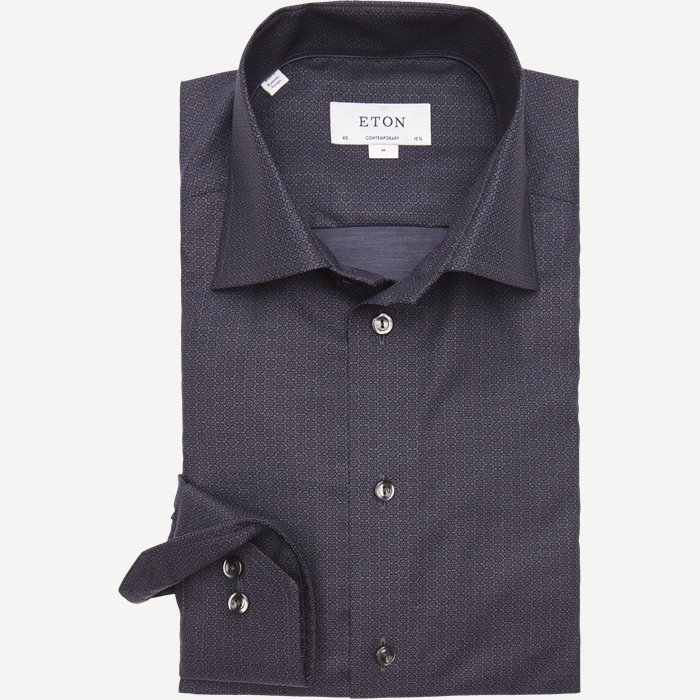 3326 Signature Twill Skjorte - Skjorter - Blå