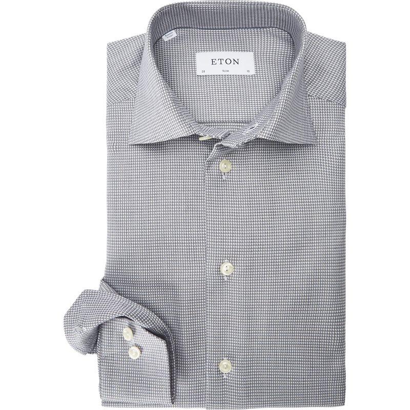 Eton - Textured Twill Skjorte