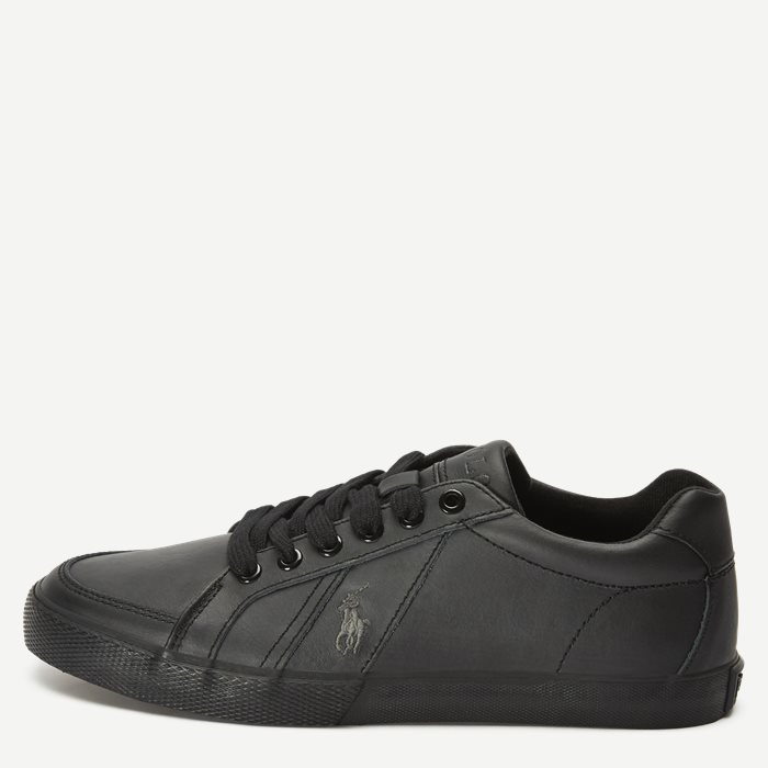 Hugh Leather Sneaker - Sko - Sort
