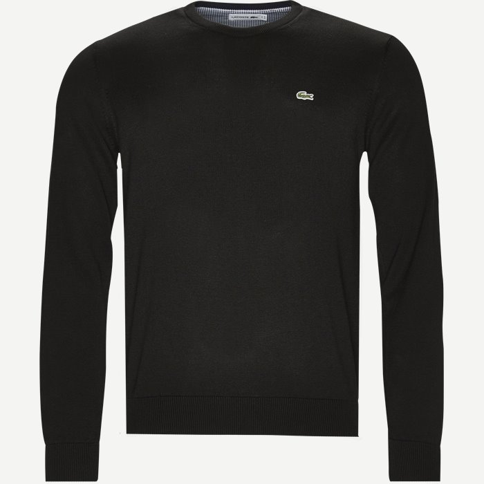 Crew Neck Sweater Jumper - Strik - Regular - Sort