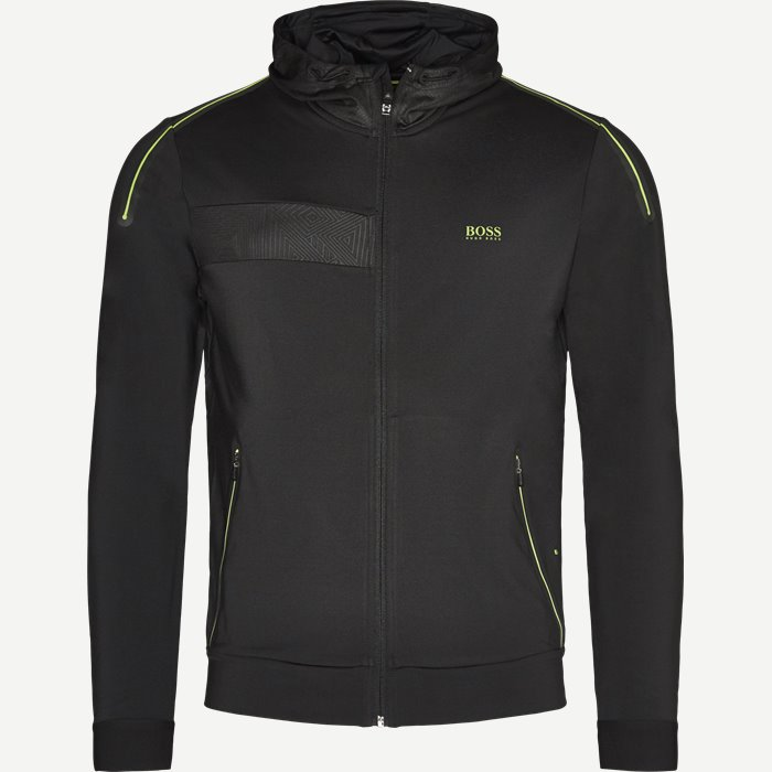 Saggytech Zip Sweatshirt - Sweatshirts - Slim - Sort