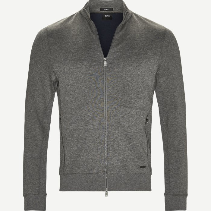 Soule 8 Zip Sweat Jacket - Sweatshirts - Slim - Grå