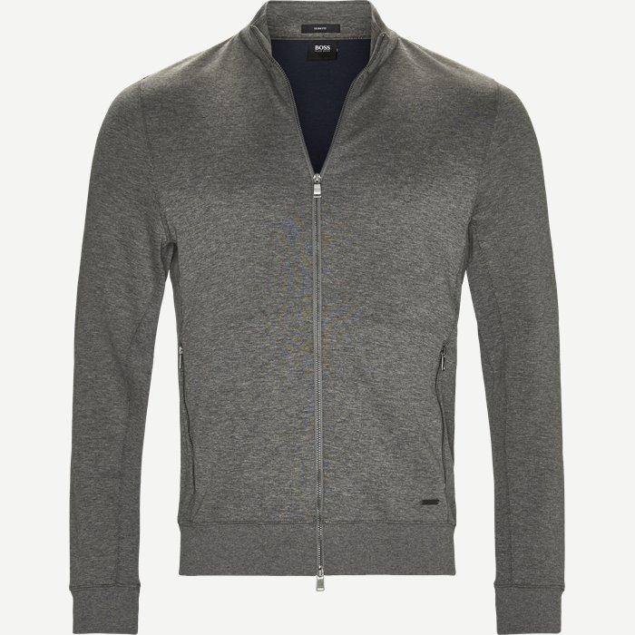 Soule 8 Zip Sweat Jacket - Sweatshirts - Slim - Grå