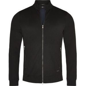 Soule 8 Zip Sweat Jacket Slim | Soule 8 Zip Sweat Jacket | Sort