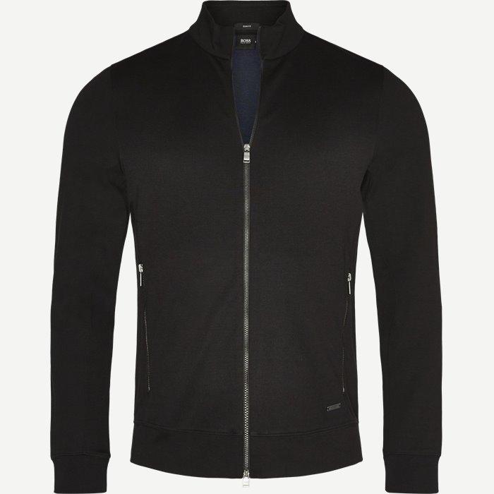 Soule 8 Zip Sweat Jacket - Sweatshirts - Slim - Sort