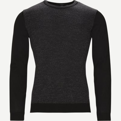 Notto Crew Neck Strik Slim | Notto Crew Neck Strik | Grå