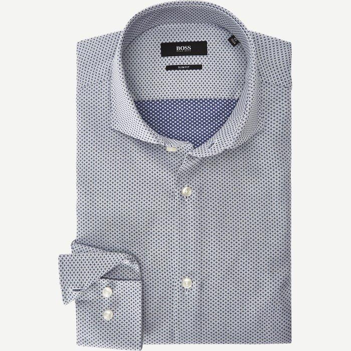 Jason Skjorte - Skjorter - Slim - Blå