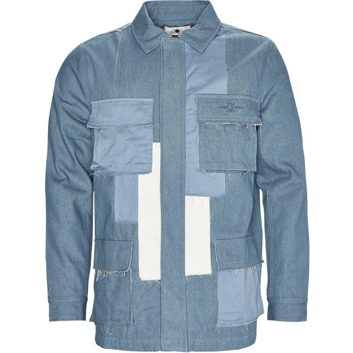 Denim Patchwork Jacket - Jakker - Regular - Denim