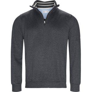 Half Zip Sweatshirt Regular   Half Zip Sweatshirt   Grå
