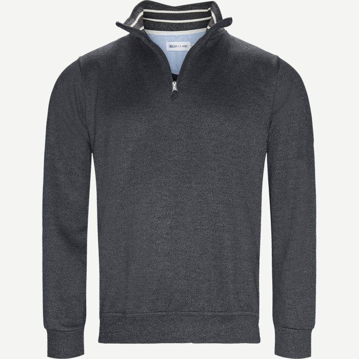 Half Zip Sweatshirt - Sweatshirts - Regular - Grå