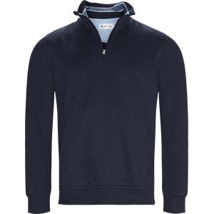 Half Zip Sweatshirt Regular   Half Zip Sweatshirt   Blå