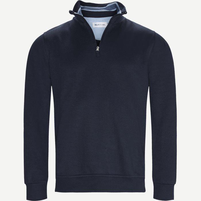 Half Zip Sweatshirt - Sweatshirts - Regular - Blå