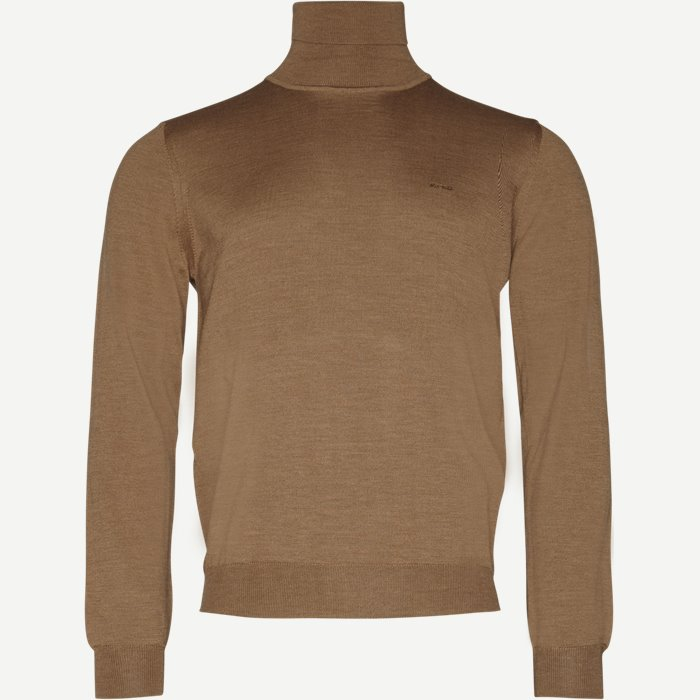 Merino Id Strik  - Strik - Regular - Brun