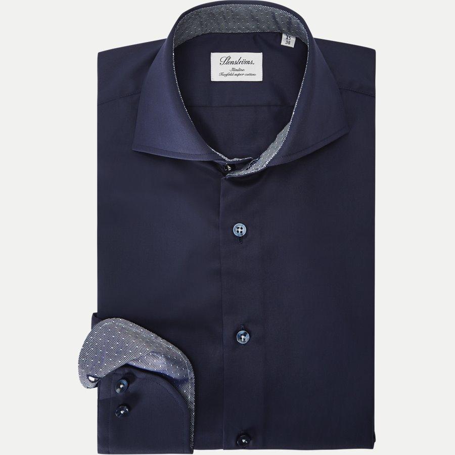 1170 784111/684111 - Twofold Super Cotton Skjorte - Skjorter - NAVY - 1