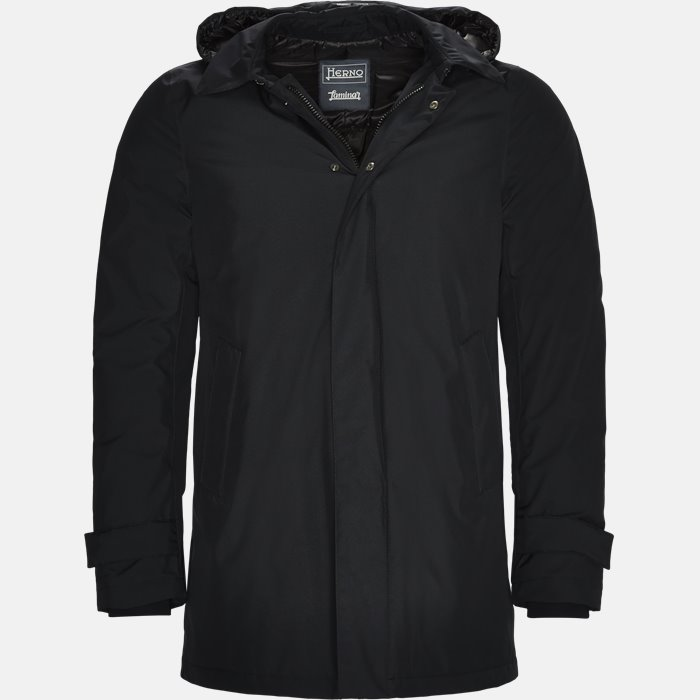 Laminar Hooded Down Jacket - Jakker - Regular - Blå