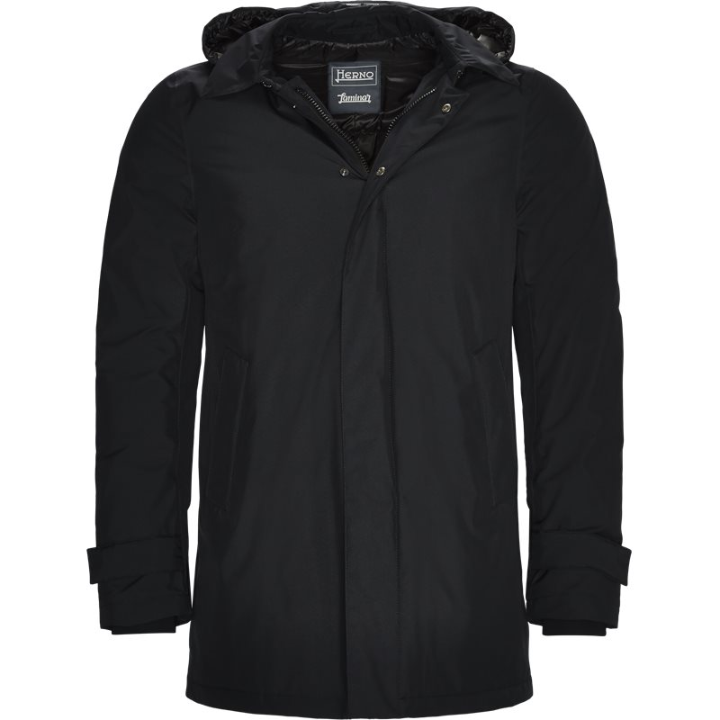 herno Herno laminar hooded down jacket navy på Edgy.dk