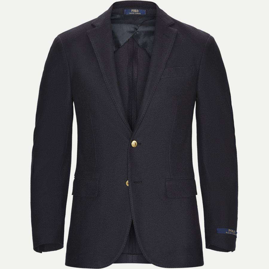 715673154 - Knit Mesh Blazer - Blazer - Regular - NAVY - 1