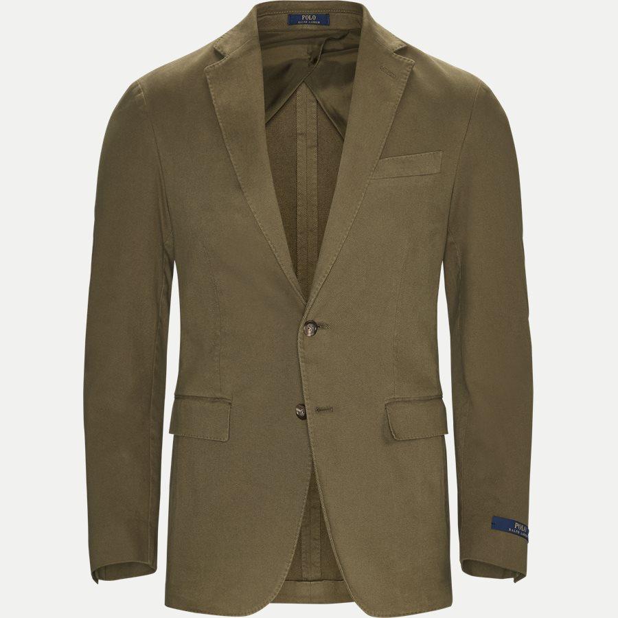 715673123 - Stretch Cotton Twill Blazer - Blazer - Regular - OLIVE - 1