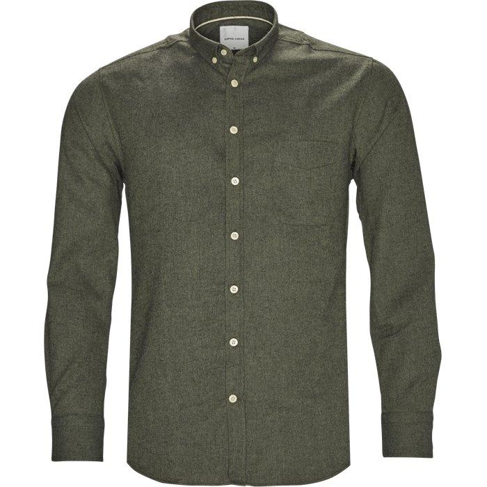 Adam - Skjorter - Regular - Grøn